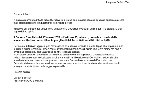 posticipo assemblea annuale
